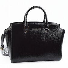 MICHAEL KORS NEW Selma Black Patent Leather Bag Handbag New