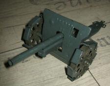 Lineol / Hausser Blech Spielzeug Geschütz Kanone Kettenräder Militär