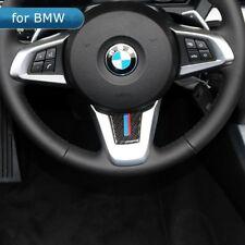 For BMW Z4 E89 Car Steering Wheel Cover Carbon Fiber M Stripe Emblem Stickers