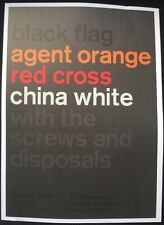 "Foo Fighters & Agent Orange 2 Sided Rock Concert Mini Poster Op Art 14x10"" R:117"