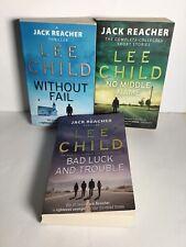 Lee Child Jack Reacher Book Bundle x 3
