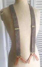 Polo Ralph Lauren Mens Wool Tweed Braces Suspender Leather
