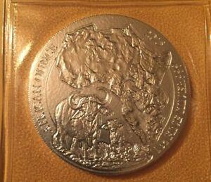2015 African Wildlife Series Rwanda buffalo 1 oz .999 silver