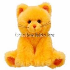 "Build-a-Bear 7"" Mini Orange Pumpkin Fun Kitty Cat Plush Animal NWT"