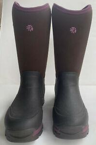"Lacrosse Womens sz 10 Alpha Thermal 14"" Chocolate/Plum 7.0MM Waterproof Boot NEW"