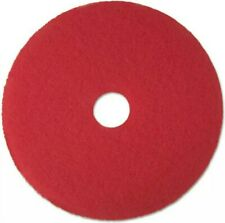 "3M Low-Speed Buffer Floor Pads 5100 12"" Diameter Red 5/Carton 08387"