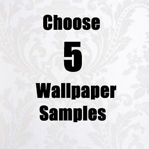 WALLPAPER SAMPLES, 5 SAMPLE PACK CHOOSE ANY 5 EMBOSSED, VINYL, TEXTURED, ETC