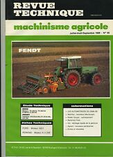 (3B)REVUE TECHNIQUE MACHINISME AGRICOLE TRACTEUR FENDT / MWM / PERKINS / FORD