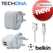Belkin de 2 Puertos Dual Usb Cargador De Pared 5v 1a Para Blackberry, Htc, Mp3, Tomtom, Ipod