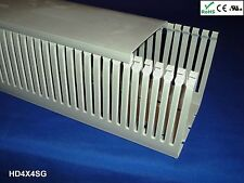 """8 New 4""""x4""""x2m Narrow Finger High Density Gray Wire Ducts/Cable Raceway Covers"""