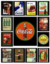 13 VINTAGE COCA COLA AD PHOTO-FRIDGE MAGNETS SET 2