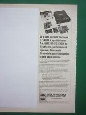 8/1979 PUB SOUTHCOM POSTE PORTATIF TACTIQUE HF/BLU AN/URC 87/SC 130D FRENCH AD