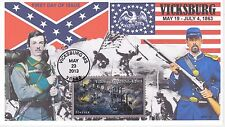 JVC CACHETS - 2013 CIVIL WAR BATTLE OF VICKSBURG STYLE #2 FIRST DAY COVER FDC