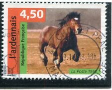 TIMBRE FRANCE OBLITERE N 3185  FAUNE CHEVAL L'ARDENNAIS Photo non contractuelle