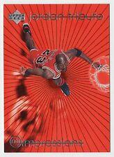 Michael Jordan 1997 UD TRIBUTE IMPRESSIONS EYE POPPING Fast Break Card #MJ38
