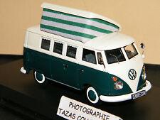 Volkswagen T1 CAMPING BUS VERT-BEIGE - SCHUCO 1/43 Ref 035441