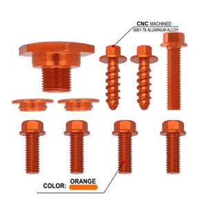 Rear Fender Plastic Parts Screw For  EXC 2004 2005 2006 2007 Aluminum Orange