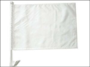 """(2 Pack) Advertising Solid White Car Window Vehicle 12x18 12""""x18"""" Flag"""