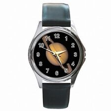 Saturn Space Planet Astronomy Astronomer Leather Watch New!
