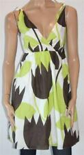 PETRO ZILLIA Designer Green Tropical Cotton Day Dress Size S BNWT [st06]