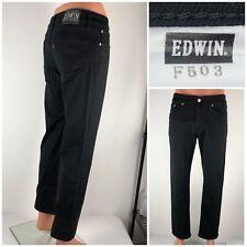 EDWIN 503 Mens 31 X 29 Jeans Black Cotton EUC