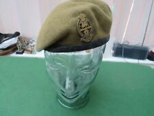 BRITISH ARMY REGIMENT 'PRINCESS OF WALES' BERET & BADGE BY FIRMIN