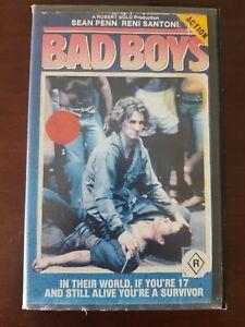 1983 FILM. BAD BOYS. VHS. THORN EMI VIDEO. BIG CASE. EX RENTAL. SEAN PENN. GC.