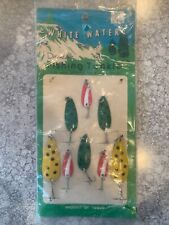 Vintage Rare Dealer Display Card White Water Fishing Lures