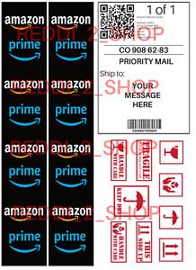 Amazon Personalised Edible Cake Decorations Tape & Shipping Label Fondant Icing