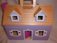 """Play Wonder Wooden Fold Out Doll House Accessories Doll 10""""x13 Closed 10x26 Open"""