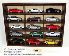 Diecast 1:43 Sports Car Collection and Case with 15 model cars MAGBL50