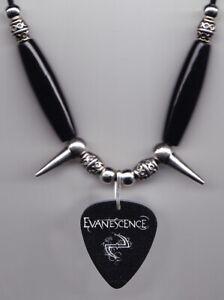 Evanescence Black Guitar Pick Necklace