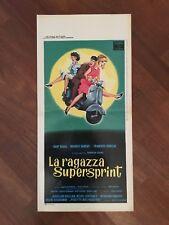 locandina,s30,LA RAGAZZA SUPERSPRINT  portes claquent 1960 VESPA PIAGGIO MOTO