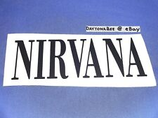 "Nirvana Decal Sticker 8""x3"" Bleach Nevermind In Utero Krist Novoselic Dave Grohl"