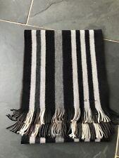 Paul Smith réversible noir/blanc/gris écharpe rayure 100% laine