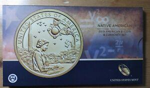2019 P Enhanced Sacagawea $1 Coin & Currency Set Native American Space Program