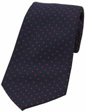 David Van Hagen Mens Pin Dot Polyester Tie - Blue/Red