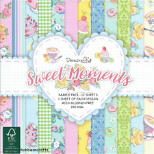 DOVECRAFT SWEET MOMENTS FLOWERS & CAKES PAPERS - 6 X 6 SAMPLE PACK  - 12 SHEETS