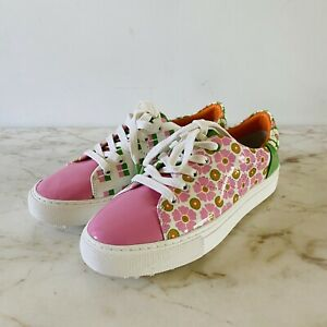 TORY SPORT White & Pink Floral Golf Sneakers - US 6.5