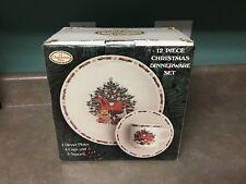 Ten Strawberry Street O CHRISTMAS TREE 12 Piece Dinnerware Set