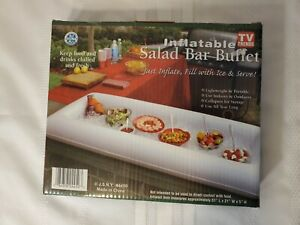 """Inflatable Salad Bar Buffet Picnic Cooler WHITE 51"""" X 21"""" X 5""""  TV Trends #4450"""