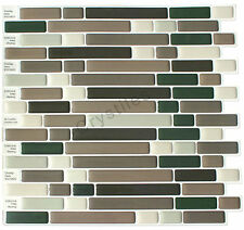 "Crystiles® Peel&Stick Self-Adhesive Tiles, Item# 91010823, 10""X10"", Set of 6"