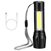 Rechargeable LED Torch Camping Lantern Zoomable Focus Light Tactical Flashlight