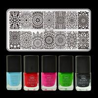 6pcs/set Mandala Floral Nail Art Stamping Polish Set Stamp Image Plate