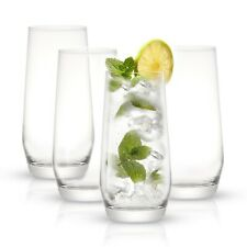 JoyJolt Gwen 18 oz Highball Glasses Set of 4 Drinking Glasses