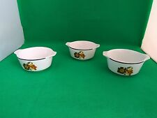 Johnson Brothers Cabana 3 x Double Handled Cereal / Dessert Bowls