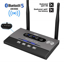 Giveet Long Range Bluetooth Latest V5.0 Transmitter Receiver 3 in 1TX/RX/Bypass,