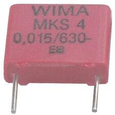10 ST WIMA Condensatore mks-4 0,015µf 15nf 15.000pf 630vdc 10% RM 7,5 atto Merce Nuova