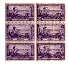 BLOCK OF 6 U.S. 3 CENT POSTAGE STAMPS WASHINGTON SAVES HIS ARMY 1951 VINTAGE