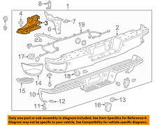 GM OEM Rear Bumper-Bumper Brace Left 23108148